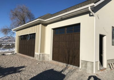garage on new home logan ut